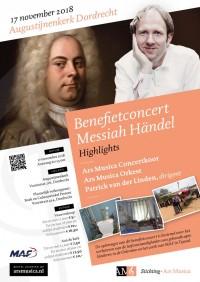Benefietconcert: Ars Musica zingt hightlights uit de 'Messiah' van Händel