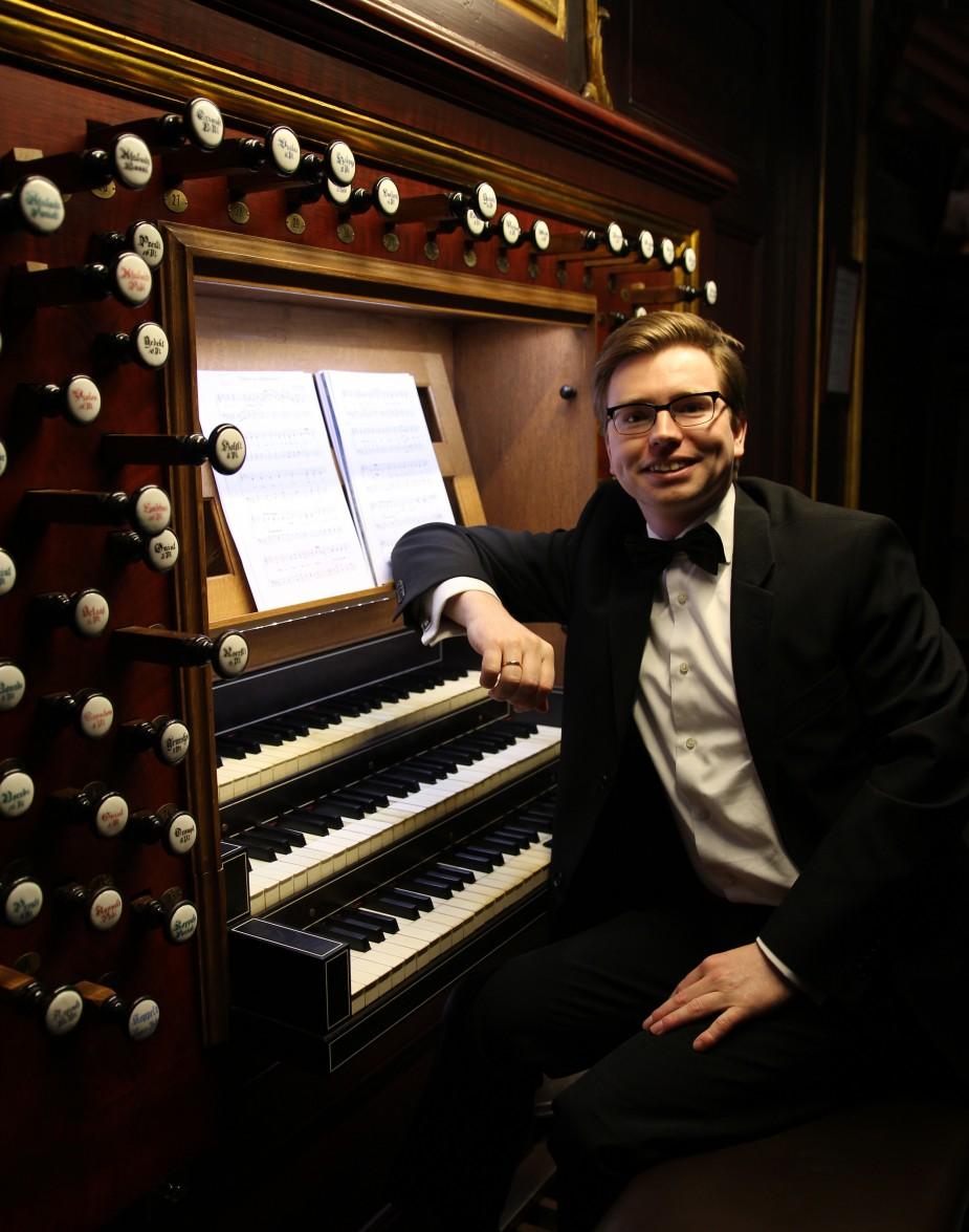 Jan Rozendaal, orgel en Rebecca Zandwijk, viool